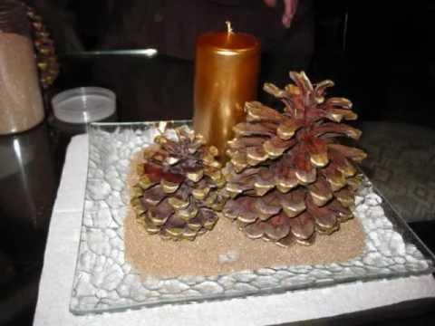Manualidad navide a centro de mesa facil wmv youtube for Centros navidad para mesa