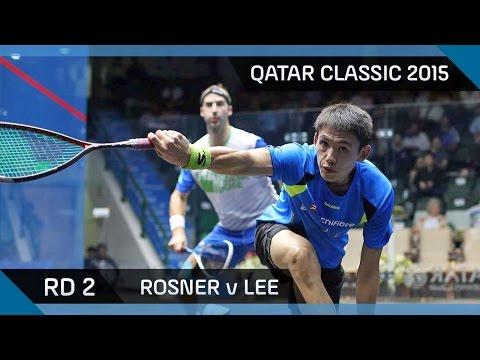 Squash: Qatar Classic 2015 - Men's Rd 2 Highlights: Rosner v Lee