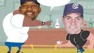 Fight - Cubs v Padres - Derrek Lee v Chris Young! (Must See)