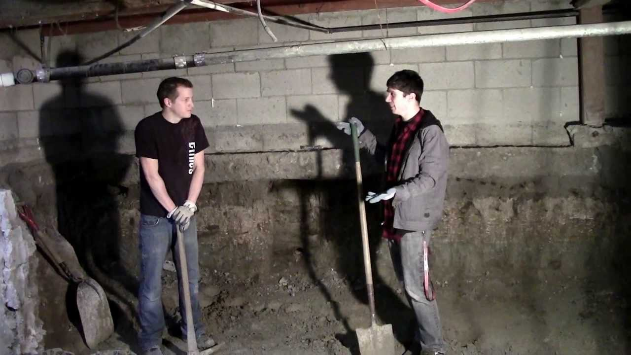 2013 Basement Dig Out Part 1 Youtube