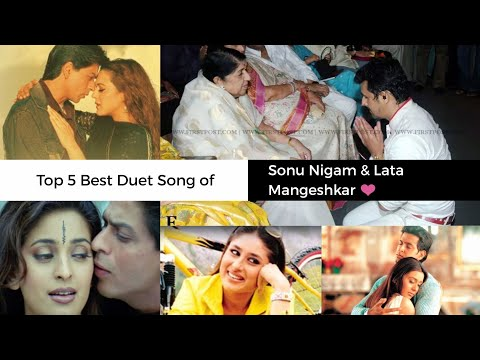 Top 5 Best Duet Song of God of Music Lata Mangeshkar & Sonu Nigam | Mujhse Dosti Karoge , One 2 Ka 4