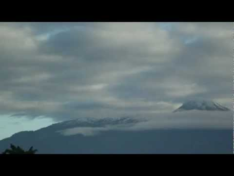 Nevada en Enero 03 del 2013 Volcanes de Colima video HD 1080p