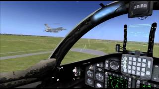FSX T4  Formation take off! with F16 XD