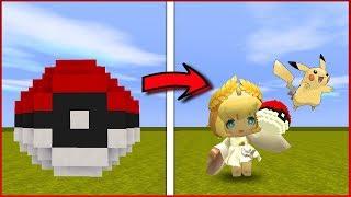 Como fazer POKEBOLA e lançar POKEMON no Mini World: Block Art