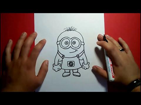 Como dibujar un minion paso a paso - gru mi villano favorito | How to draw a minion