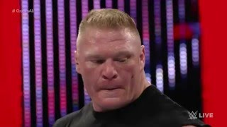 Roman Reigns competes in a  'One vs  All' Match  Raw, Brock Lesnar attacks all, January 11, 2016