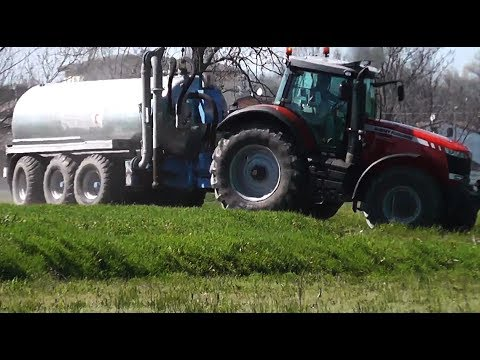 Massey-Ferguson 8660 spargimento liquame / liquid manure spreading 13/04/2013
