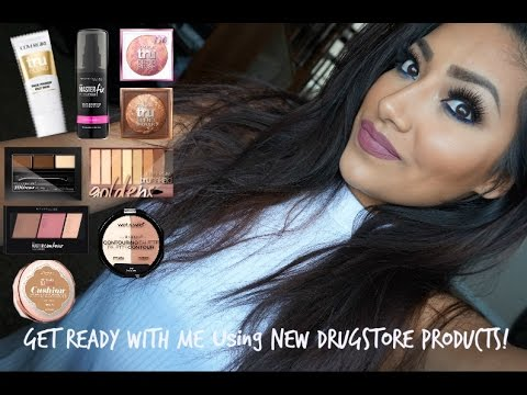 Get Ready With Me Using NEW Drugstore Products! - Alexisjayda