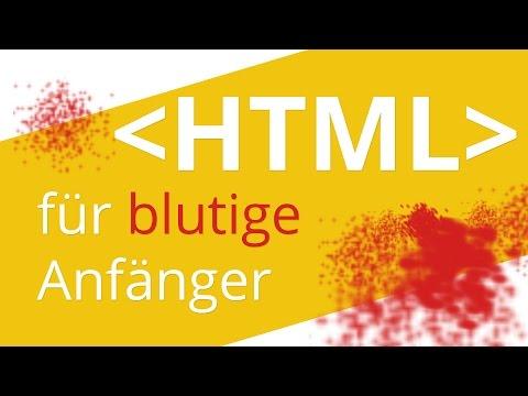 HTML Tutorial Deutsch für Anfänger
