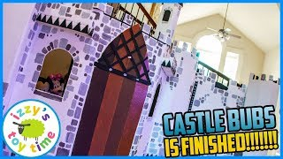 CASTLE BUBS IS FINISHED. Fun Toys for Kids! Cardboard and DIY Crafts with Izzy's Toy Time!
