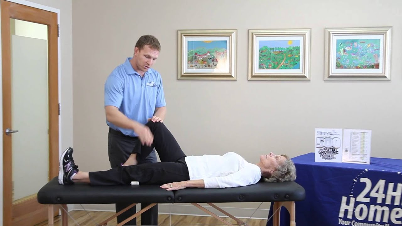 Physical Therapy Videos: Bed Exercises to Offset Knee ...