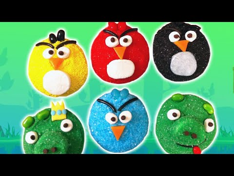 Angry Birds Cupcakes - Nerdy Nummies video