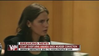 video Amanda Knox murder conviction overturned by Italy's highest court ◂ KJRH - 2 News Works for You - brings you the latest trusted news and information for Tulsa, Green Country and Northeast...