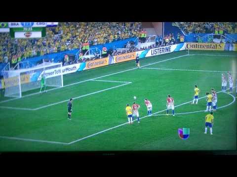 Brazil VS Croatia penalty kick 2-1