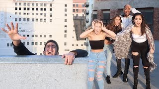 FALLING OFF BUILDING PRANK!  *SO SCARED*