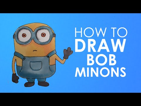 How to draw Bob minion from Minions easy step by step video lesson for beginners