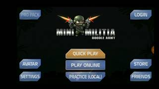 How to play mini militia with friends online?