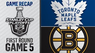 Maple Leafs win Game 5 to take series lead