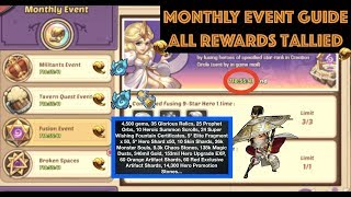 Idle Heroes Monthly Event Guide & Rewards Compilation