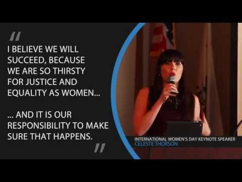 Celeste Thorson speaks about Women's Rights at UN WOMEN SOCAL