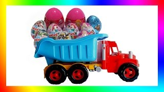 Big Truck and Kinder Surprise Eggs Unpacking Show (Full HD)