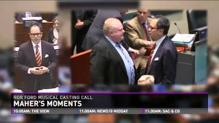 Maher's Moments: Mayor Rob Ford The Musical casting call