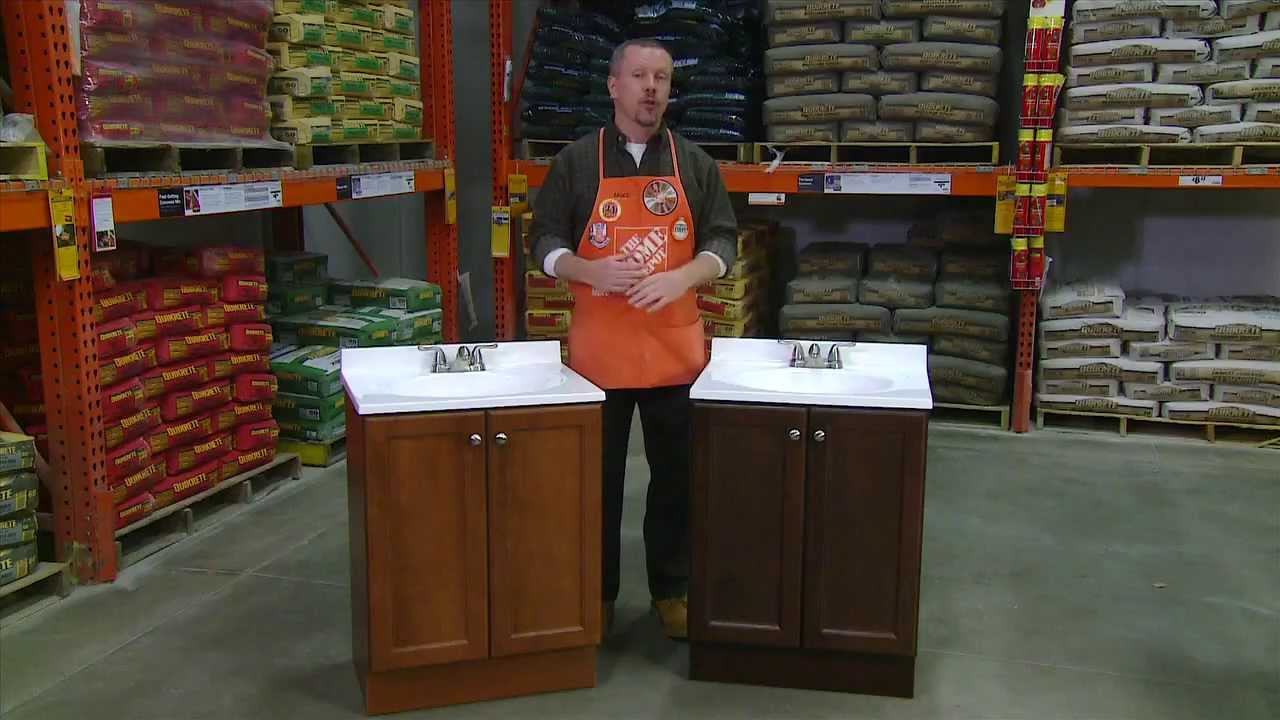 glacier bay all in one vanity pro combo for pros the home depot youtube. Black Bedroom Furniture Sets. Home Design Ideas