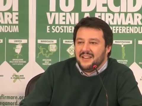 Conferenza Stampa  26 marzo 2014 Referendum - Matteo Salvini
