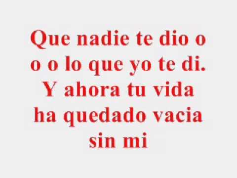 GLORIA TREVI..  Me Rio de Ti  Lyrics (con letra)