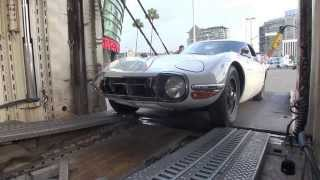 Toyota 2000 GT arriving at the Los Angeles Auto Show