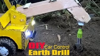 How to make a Earth Drill at home - Car Remote Control using Cardboard (Electric Truck)