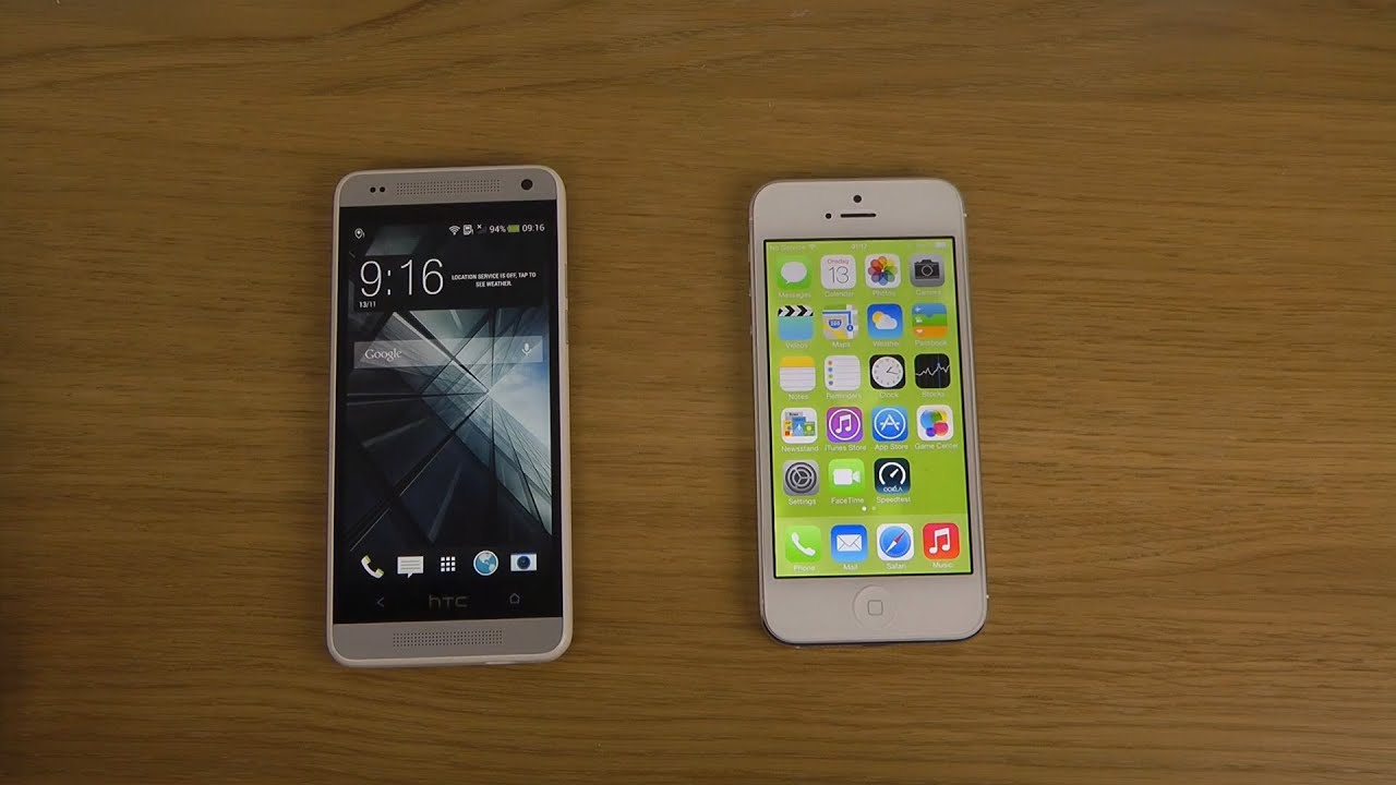 htc one mini vs iphone 5 ios 703 which is faster