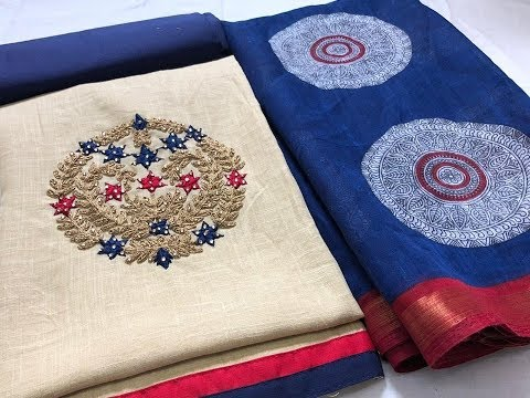 Unique Design Chanderi Soft Cotton Churidar Materials || New Fashion Design Chanderi Diwali Churidar