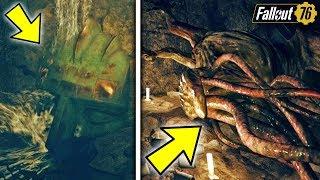 Fallout 76 | SECRET TENTACLE MONSTER FOUND! Hidden Location, Secret Loot, & Creepy Lore