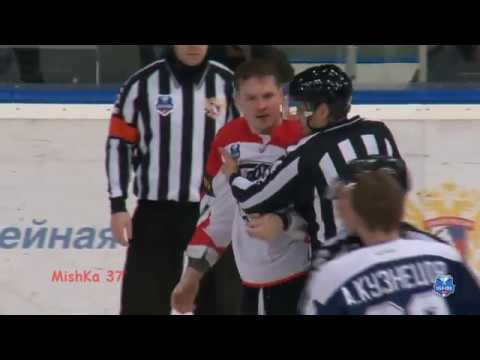 Драка ВХЛ Миронов А.С. - Байкеев Б Fight VHL Mironov - Baikeev