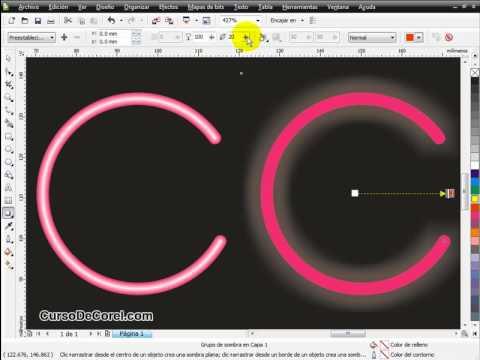 Como Hacer Efecto Neon en Corel Draw.flv