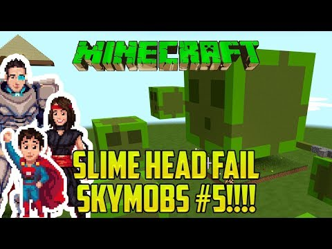 Minecraft: SLIME HEAD FAIL (Skymobs #5)
