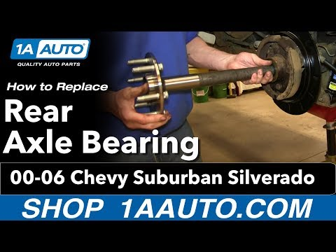 How To Install Replace Rear Axle Bearing 2000-06 Chevy Suburban Silverado GMC Sierra Yukon