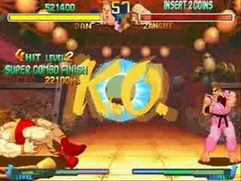Street Fighter Alpha 2 Dan Hibiki All Perfect (1/2)