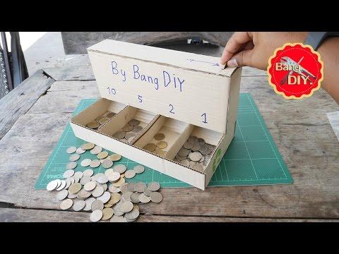 สิ่งประดิษฐ์ เครื่องแยกเหรียญจากกล่องกระดาษเหลือทิ้ง   แบงค์ใบ้ Ep.1 By ช่างแบงค์