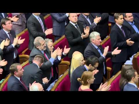Biden delivers a speech in the Ukrainian parliament
