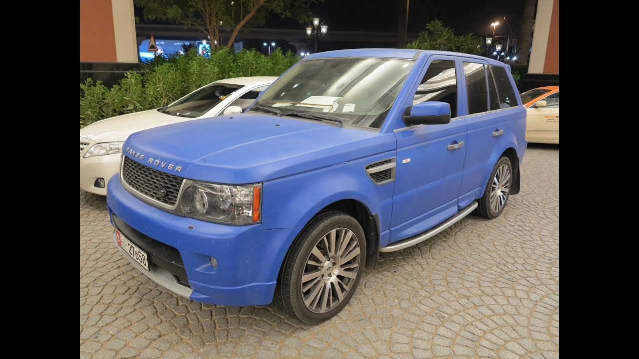 Matte Blue Purple Range Rover Sport Supercharged Youtube