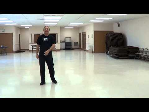 Crocodile Roll Line Dance Demo & Tutorial video