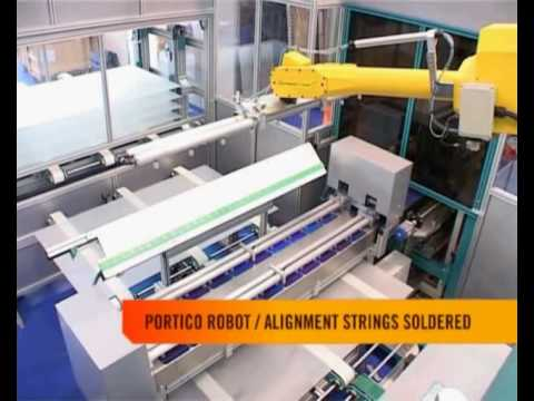 Automatic Production Line for Manufacturing Photovoltaic Modules