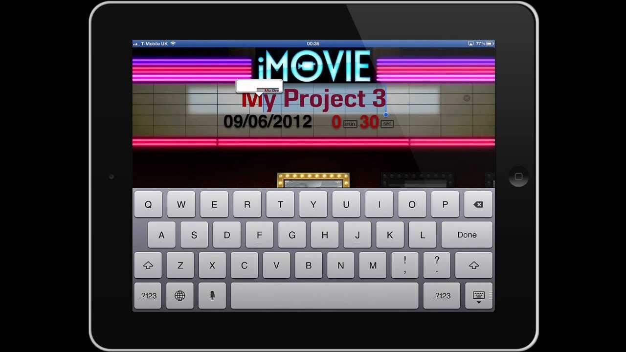how to delete a clip from imovie ipad