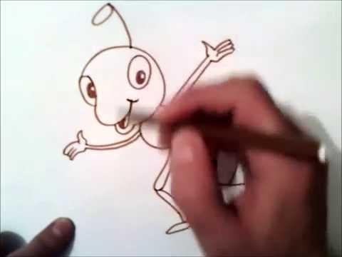 Видео как нарисовать муравья