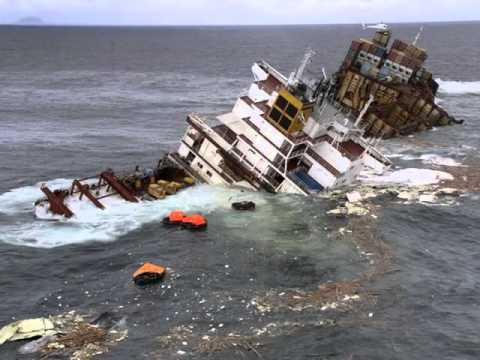 Cargo Ship Sinking Container Ship Sinking Youtube