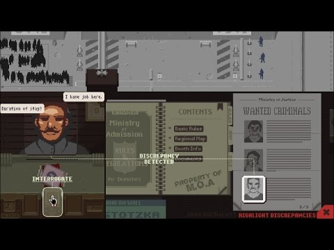 Papers, Please: Detaining All 3 Wanted Criminals on Day 14 (With Bonus)