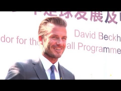 David Beckham Speaks About His Ambassador Duties on China Trip - Splash News
