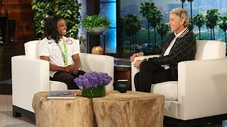 Olympic Gymnast Simone Biles Returns from Rio